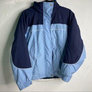 Chalet winter glacier snow ski hooded jacket Small